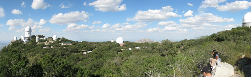 The Kitt Peak National Observatory (KPNO) 4-m telescope (top left) has been our go-to observing place to spectroscopic follow-up of Kepler targets of interest.